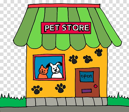 Dog Pet Shop Ferret , Many Pets transparent background PNG.