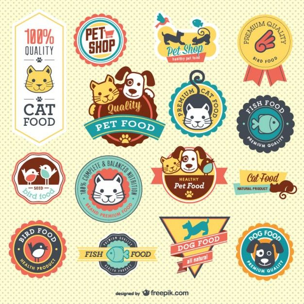 Petshop Vector Badges (Free Download) 2014.