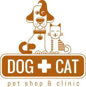 Dog and cat with pet shop and clinic Logo Vector (.EPS) Free.