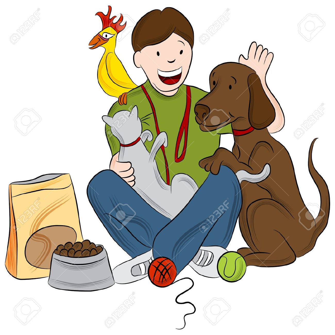 House And Pet Sitting Clipart.