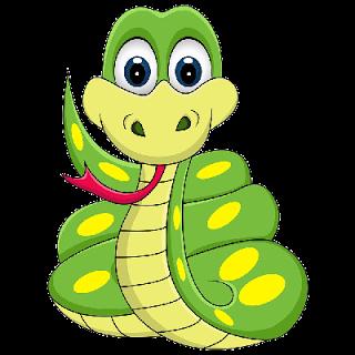 Cute snake clipart.