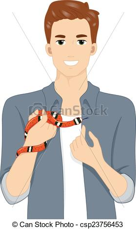 Clipart Vector of Exotic Pet Snake.