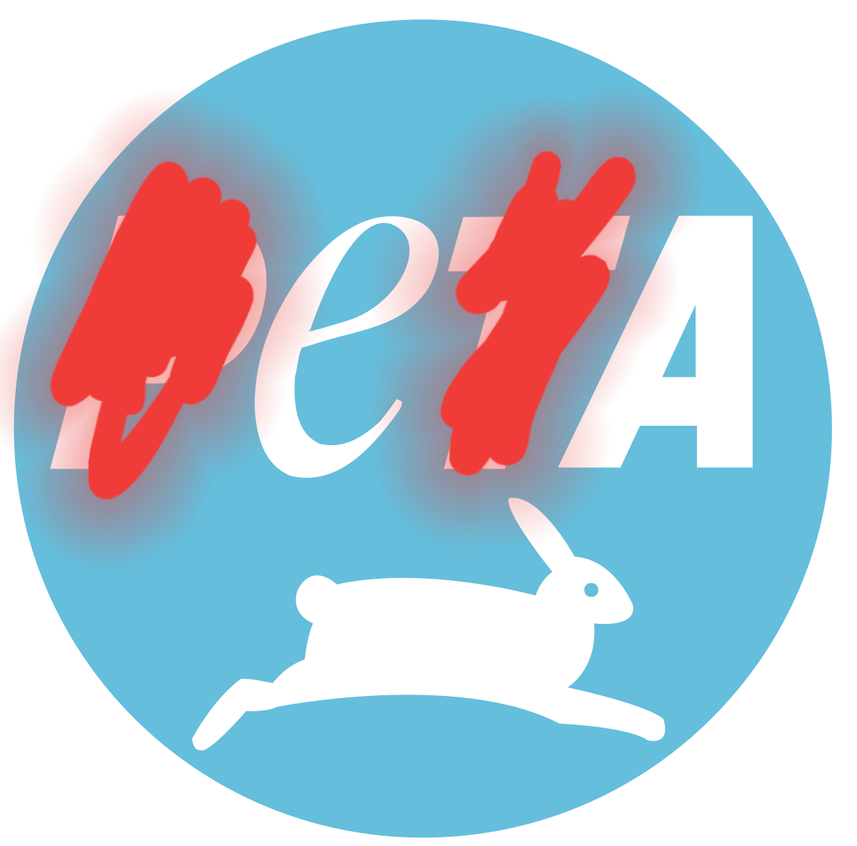 Secret message in the peta logo : Gamingcirclejerk.