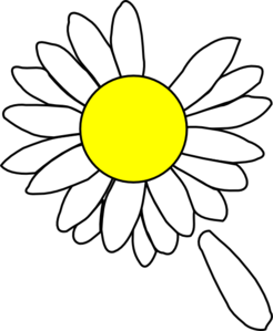 Daisy petal clipart.