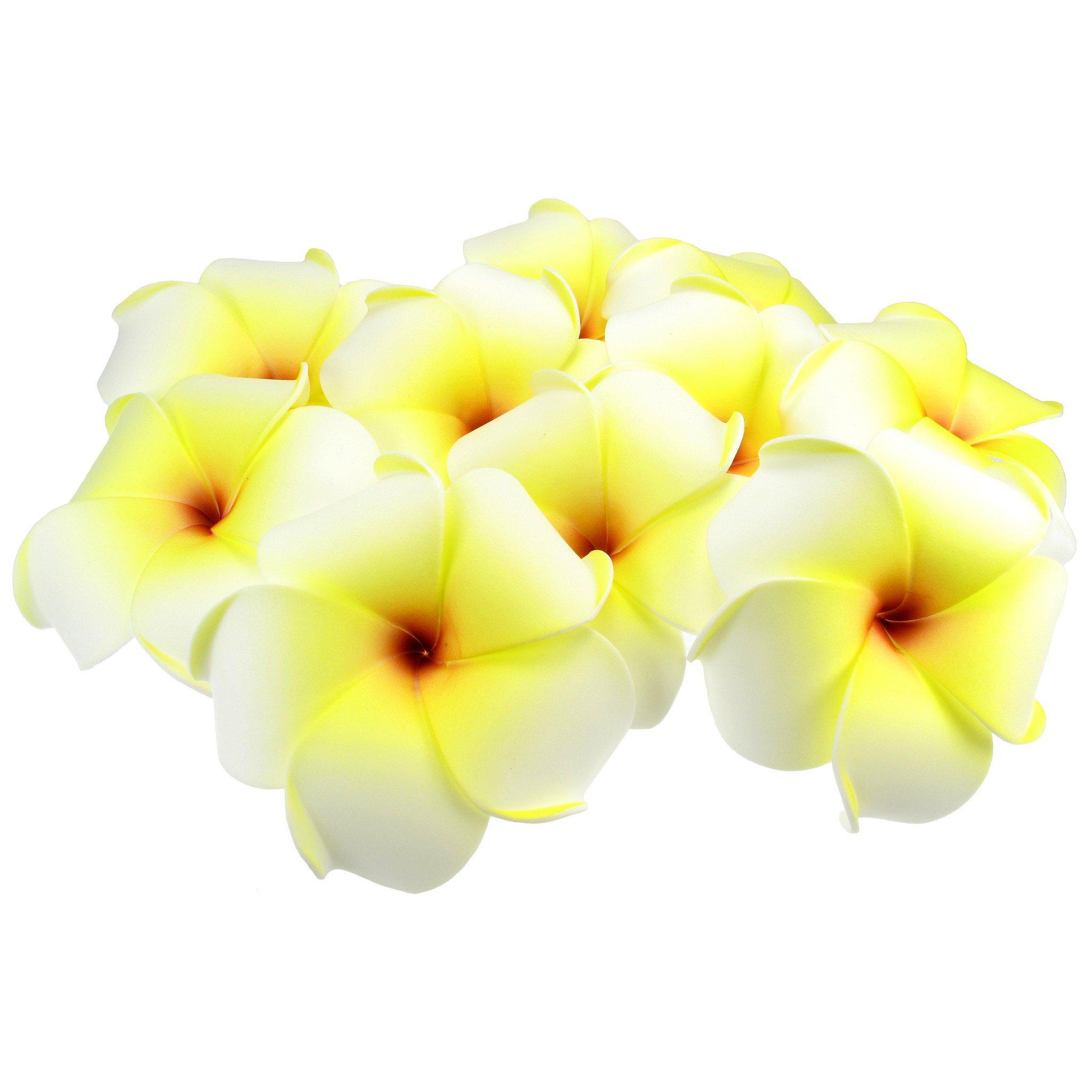 Artificial Floating Plumeria (Frangipani) Foam Flower, 10.