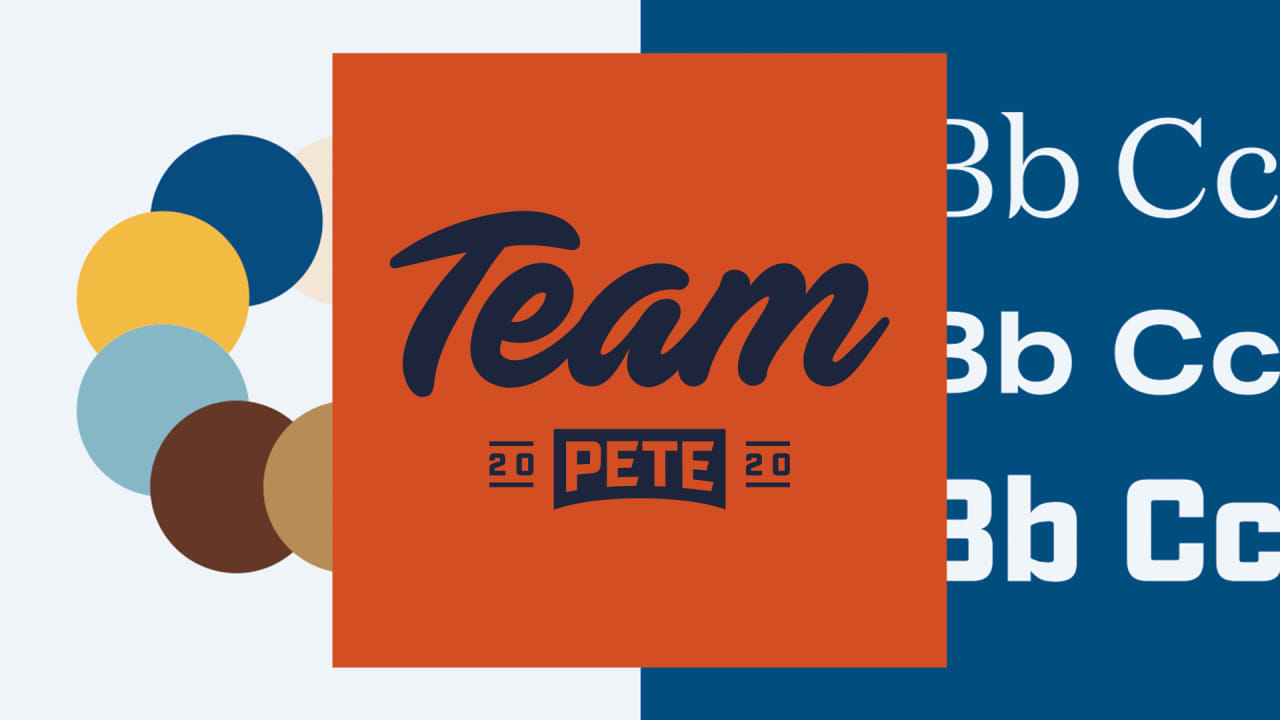 See Pete Buttigieg\'s logo and branding for the 2020.