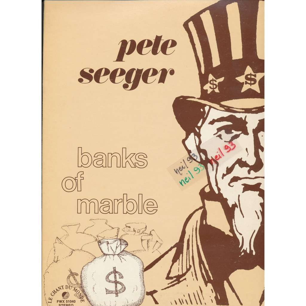 Banks of marble by Pete Seeger, LP Gatefold with neil93.