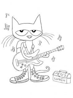 Pete the cat black and white clipart » Clipart Portal.