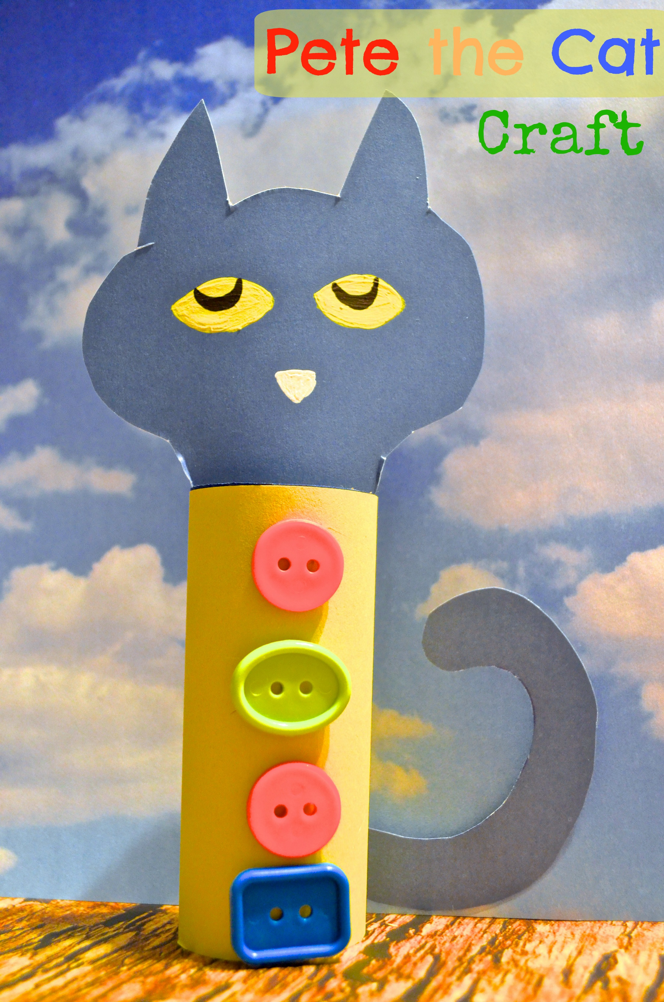 Pete the Cat Toilet Paper Tube Craft for Kids.