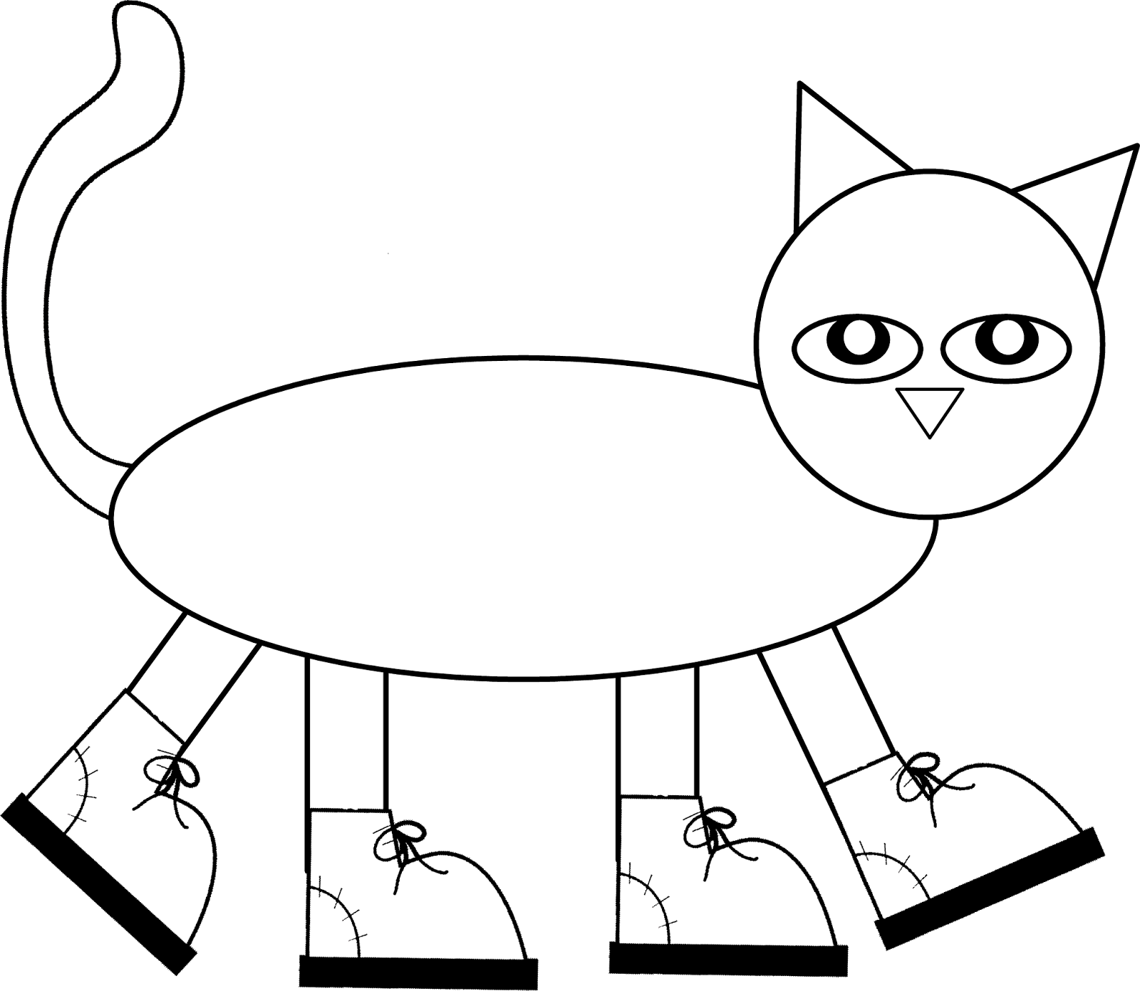 Pete the Cat Pattern to color, cut, and assemble! Children love.
