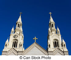 Stock Photo of Saints Peter and Paul Church, San Francisco.