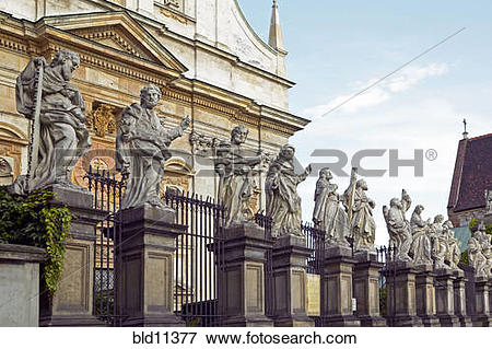 Picture of Krakow, Poland: Statues of apostles at Saints Peter and.