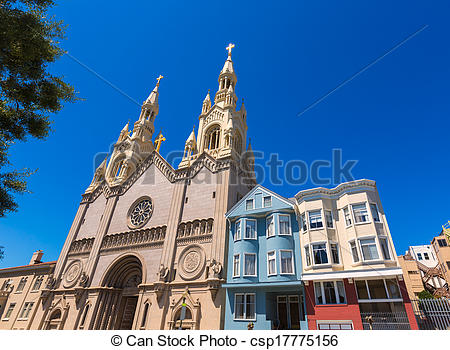 Stock Images of San Francisco St Peter and Paul Church at.