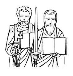 Saint Denis Catholic Coloring Page.