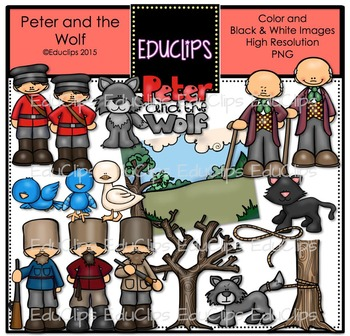 Peter And The Wolf Clip Art Bundle {Educlips Clipart}.
