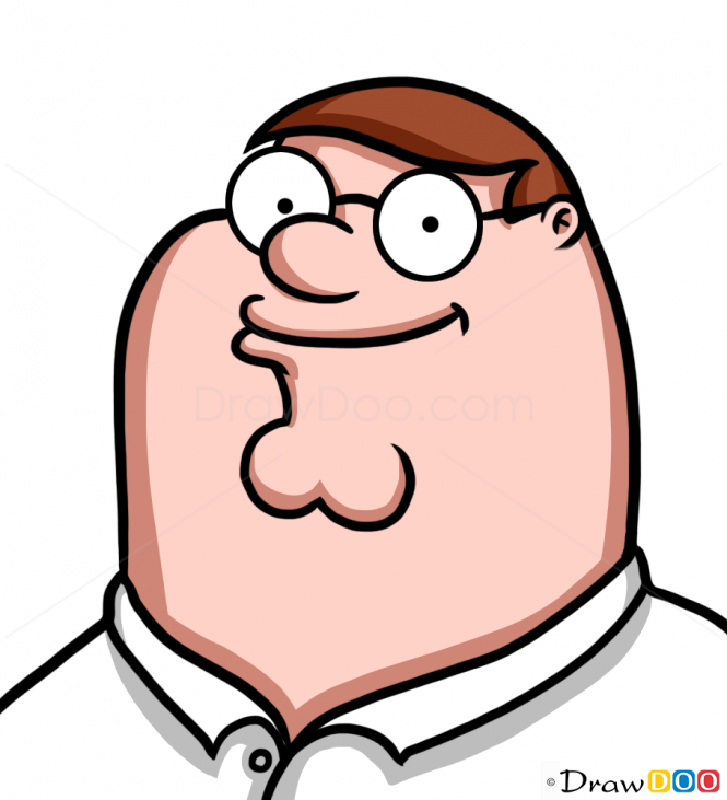 How to Draw Peter Griffin Face, Cartoon Characters.