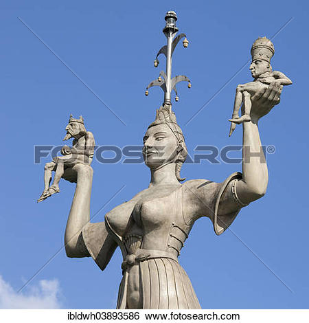 "Stock Images of ""Imperia statue by Peter Lenk, holding the Pope."