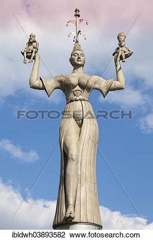 "Stock Photo of ""Imperia statue by Peter Lenk, holding the Pope and."
