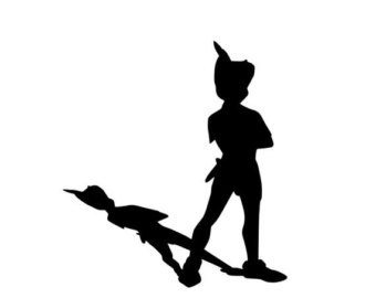 Peter pan clipart black and white 1 » Clipart Station.