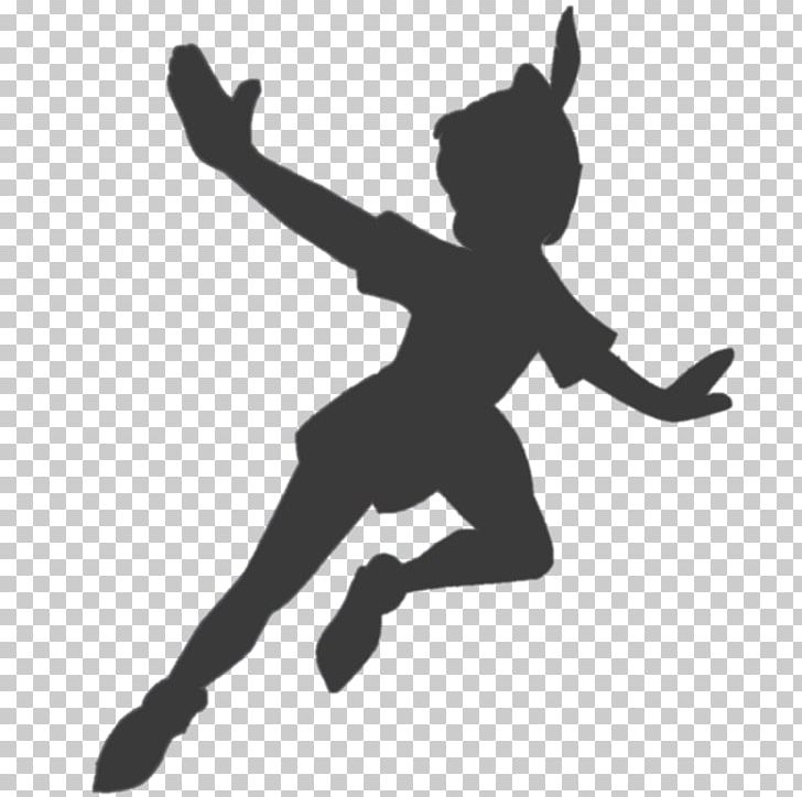 Peter Pan Tinker Bell Silhouette Shadow PNG, Clipart, Arm.