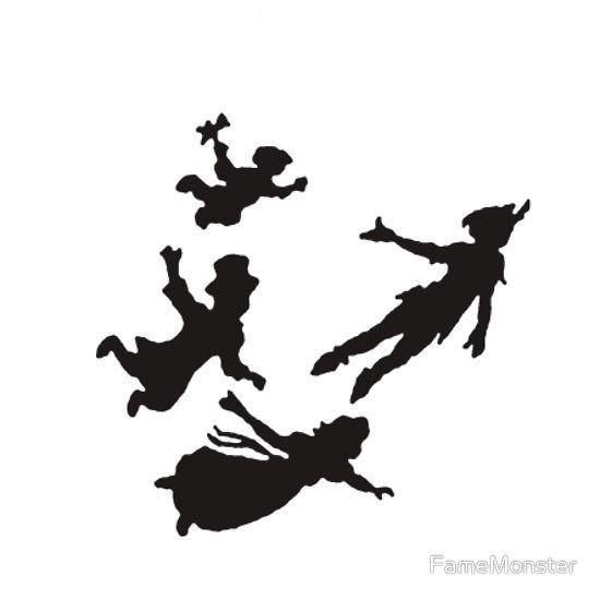 Peter Pan Flying Black And White Garland \\x3cb\\x3eblack.