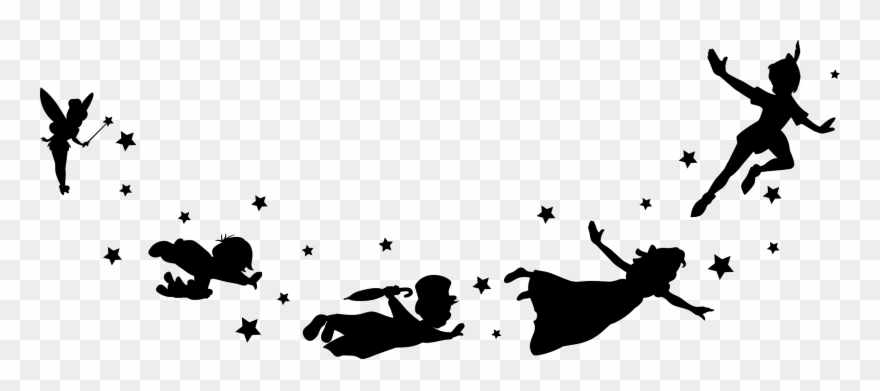 Peter Pan And Friends Flying.