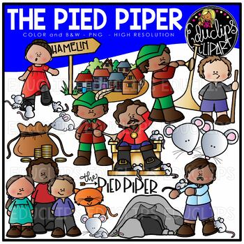 The Pied Piper Clip Art Set {Educlips Clipart}.