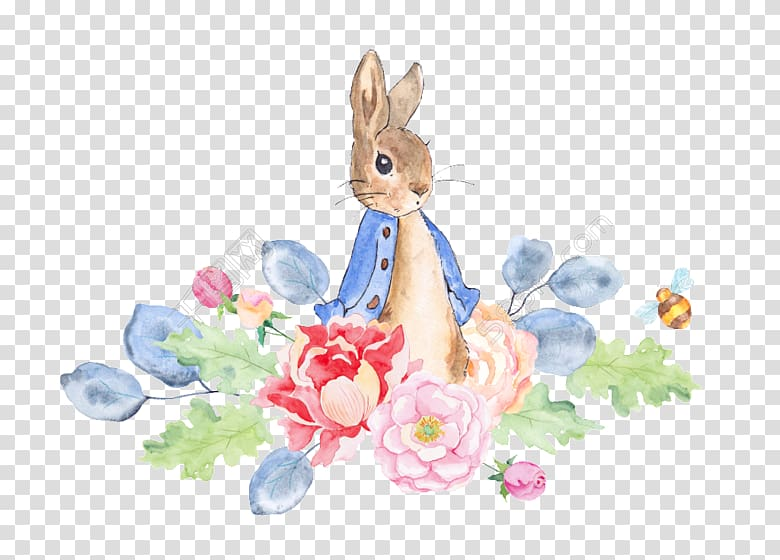 The Tale of Peter Rabbit Watercolor painting, peter rabit.