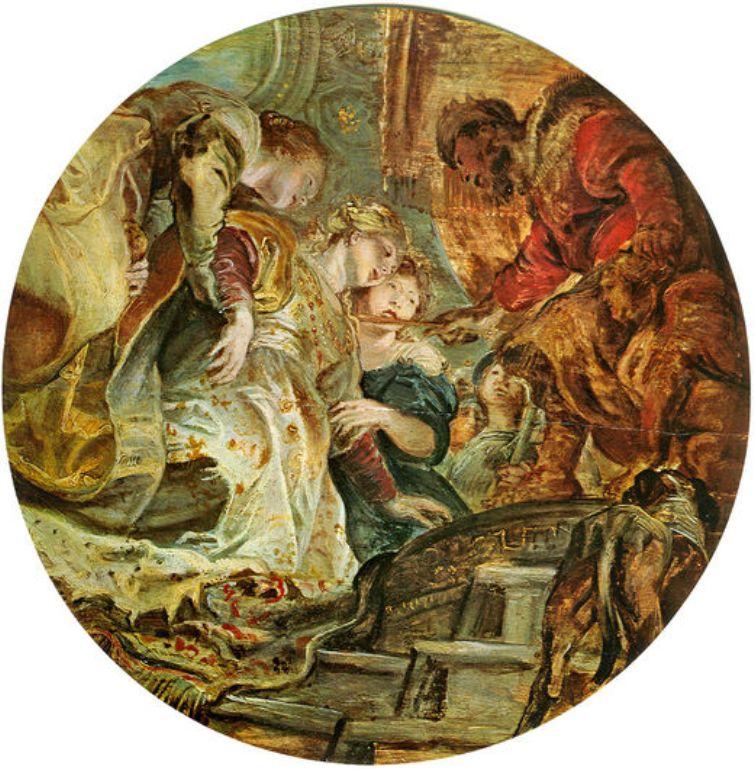 Esther and Ahasverus, 1606.