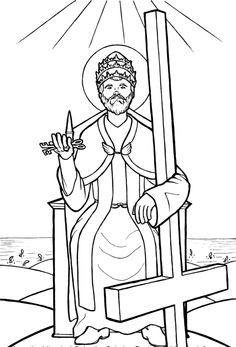 St. Juan Diego Catholic Coloring Page. Feast day is December 9th.