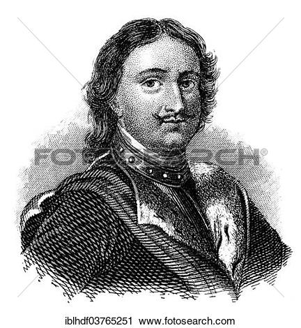 "Stock Photography of ""Portrait of Peter the Great, Peter I or."