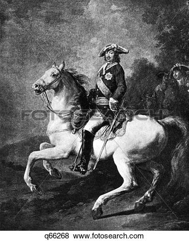 Pictures of Portrait Of Peter The Great On Horseback 1672.