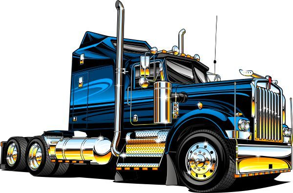 Cartoon semi truck clipart.