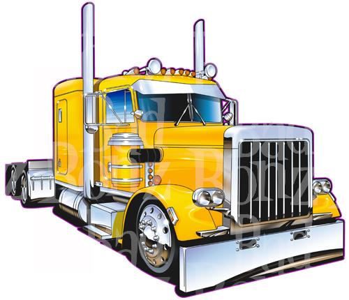 Peterbilt 379 Truck Clipart.