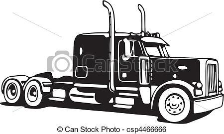 Peterbilt truck clipart.