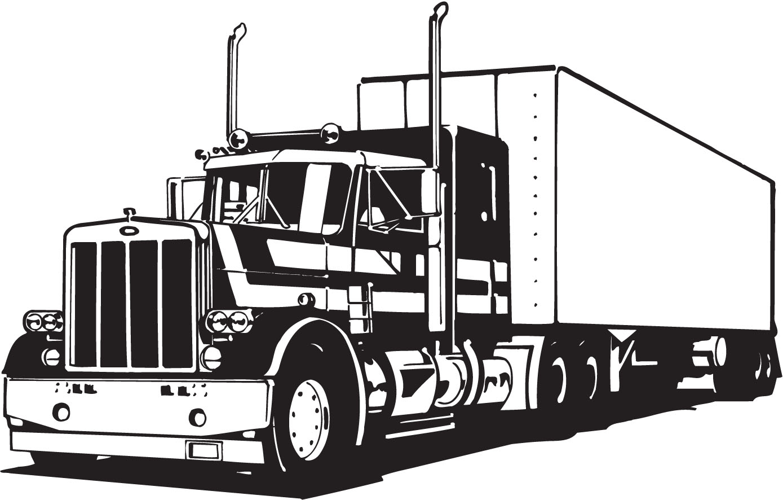 Peterbilt semi truck clipart.