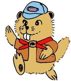 Cartoon Beaver clip art.