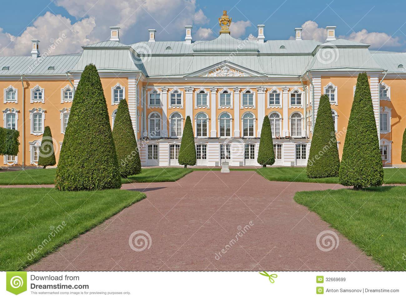Peterhof Grand Palace Park Editorial Stock Image.