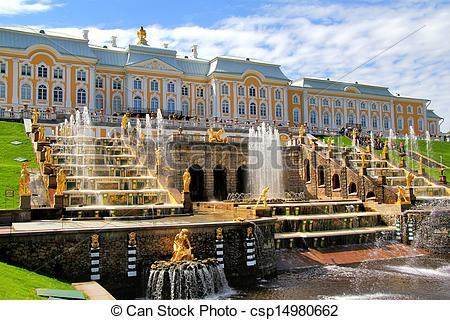 Stock Image of Peterhof Palace, Russia.