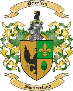 Peterlein Family Crest from Switzerland by The Tree Maker.