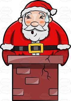 Santa Hat Clipart, White Beard Clipart, Santa Hat Clip Art.
