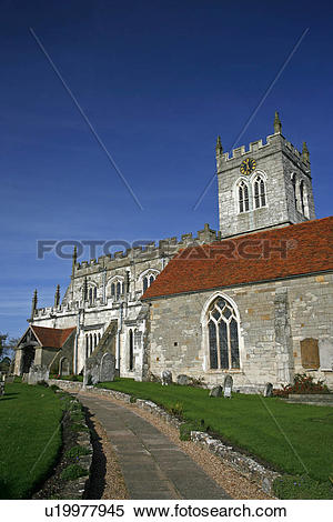 Stock Image of England, Warwickshire, Wootten Wawen, St Peter's.