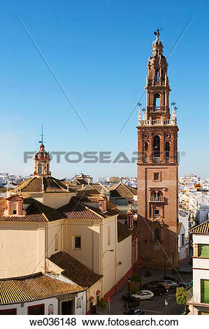 Pictures of St. Peter's Church, Carmona. Sevilla province.