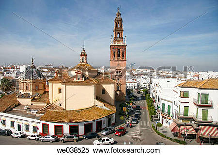 Stock Image of St. Peter's church (15th century), Carmona. Sevilla.