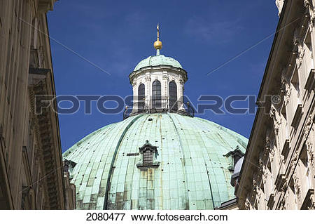 Picture of The dome of saint peter's church; vienna austria.