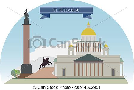 Clipart Vector of St. Petersburg, Russia. For you design.
