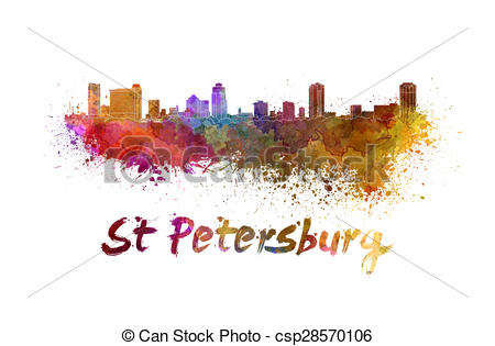 St petersburg skyline Illustrations and Stock Art. 48 St.