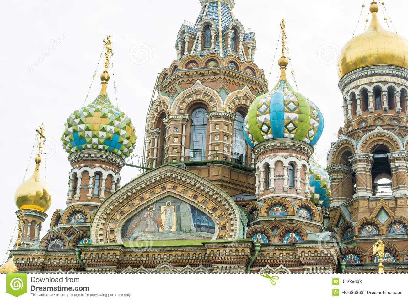 Crosses On Domes, St. Petersburg Stock Photography.