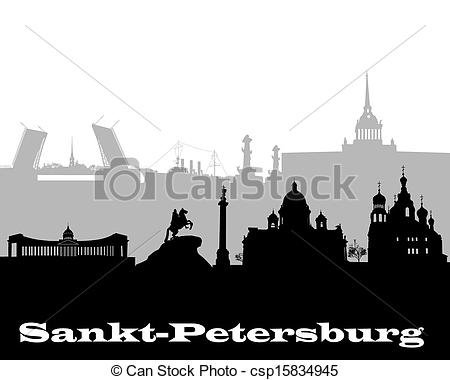 EPS Vector of silhouette of Sankt.