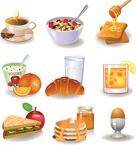 Petit déjeuner Image 01, Images vectorielles.